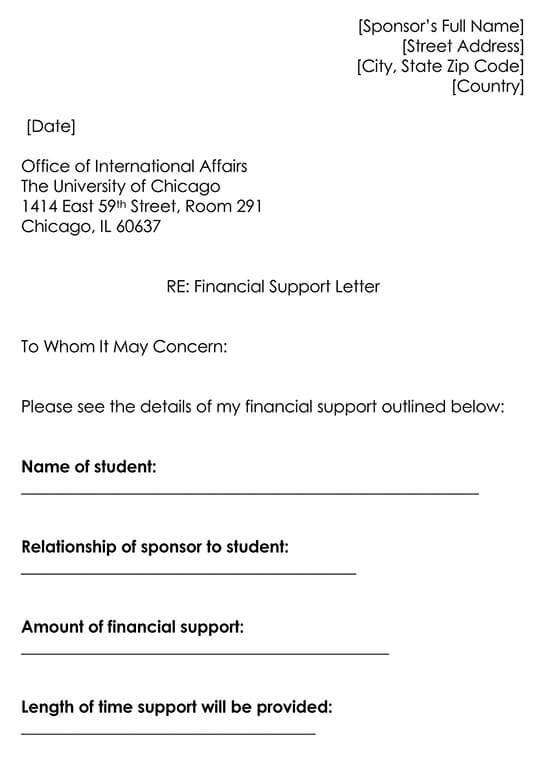 Letter of Support Word Template 05