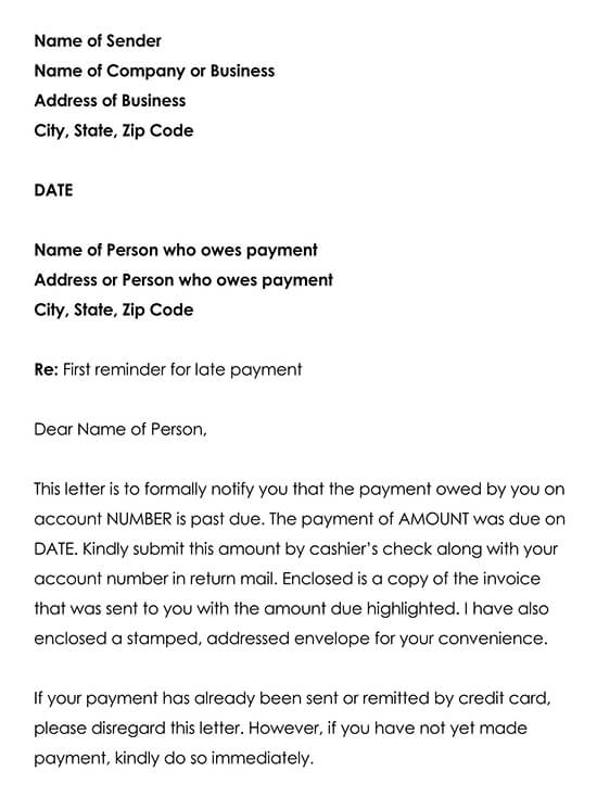 Payment Reminder Template 01