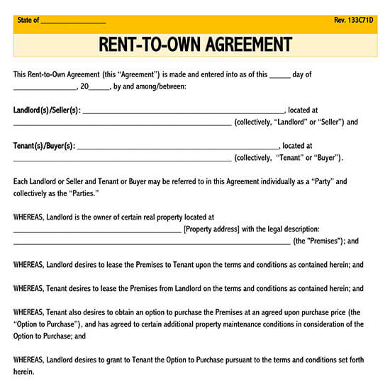 standard lease agreement pdf