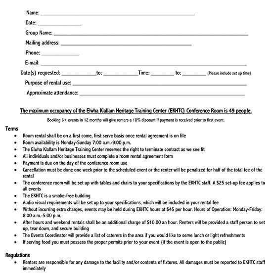room rental agreement california 1