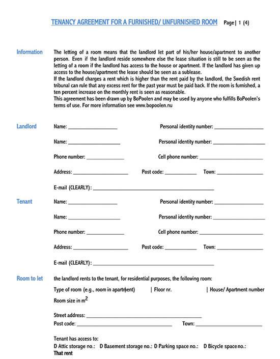 room rental agreement shared housing 1