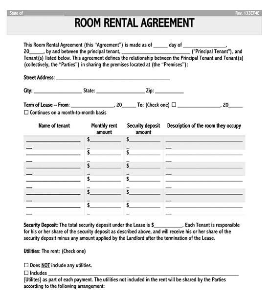 basic rental agreement fillable