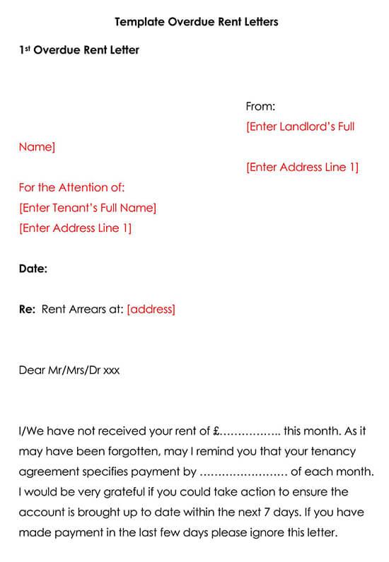 Sample Rental Payment Overdue Reminder Letter