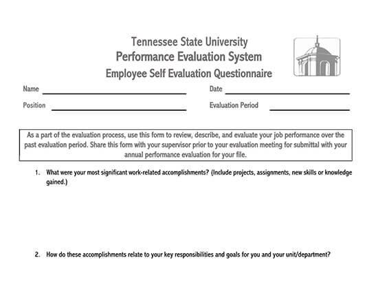 employee evaluation form pdf