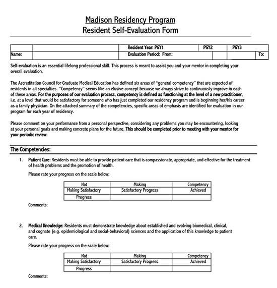 free employee evaluation form template word 01