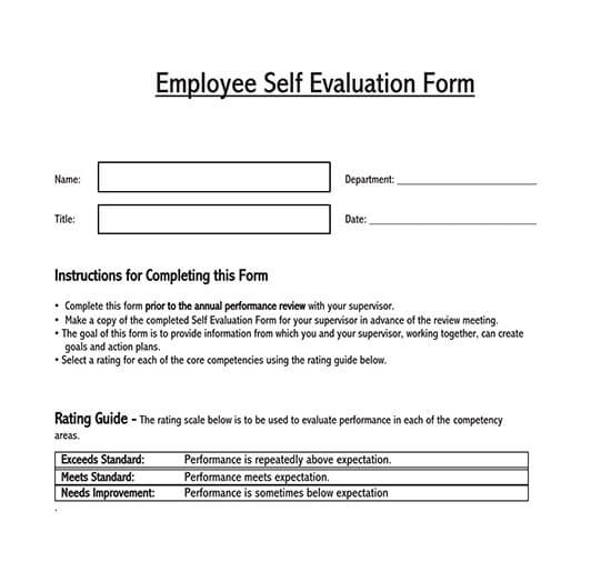 free employee evaluation form template word 02