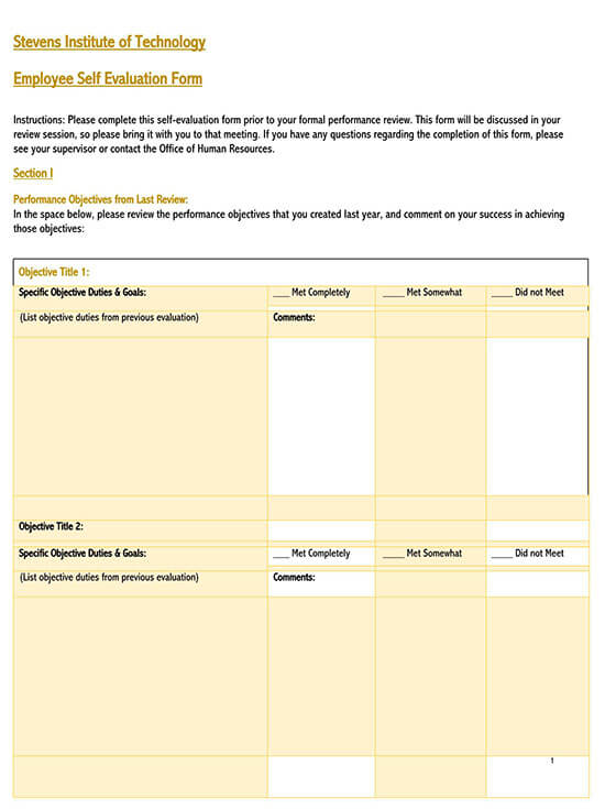 simple evaluation form 03