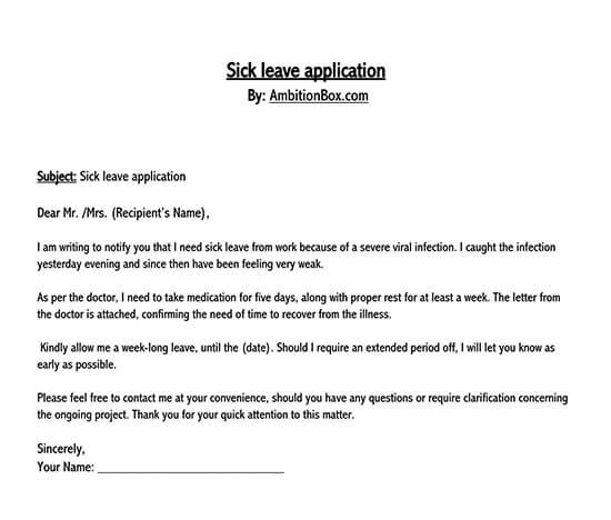 leave application letter in word format 02