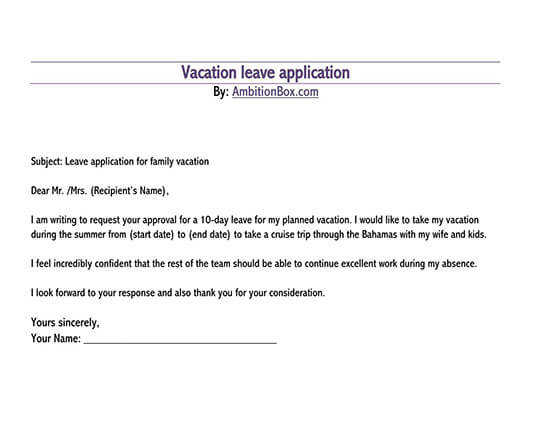 leave application letter in word format free download 02
