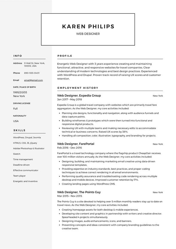 Web Developer Resume Objective