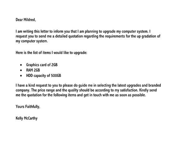 price quotation letter format in word 01