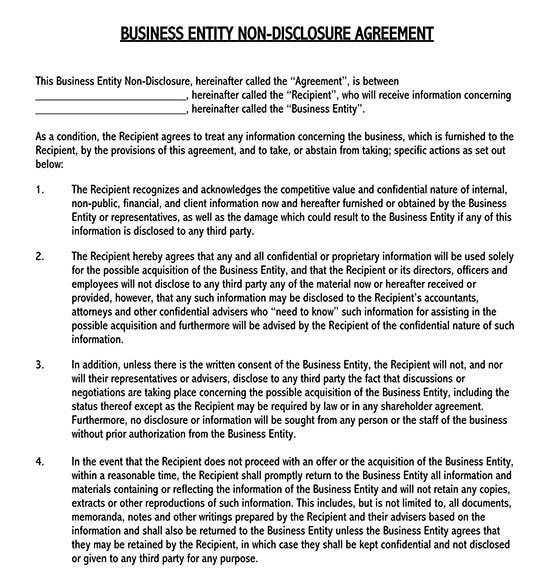 non disclosure agreement pdf