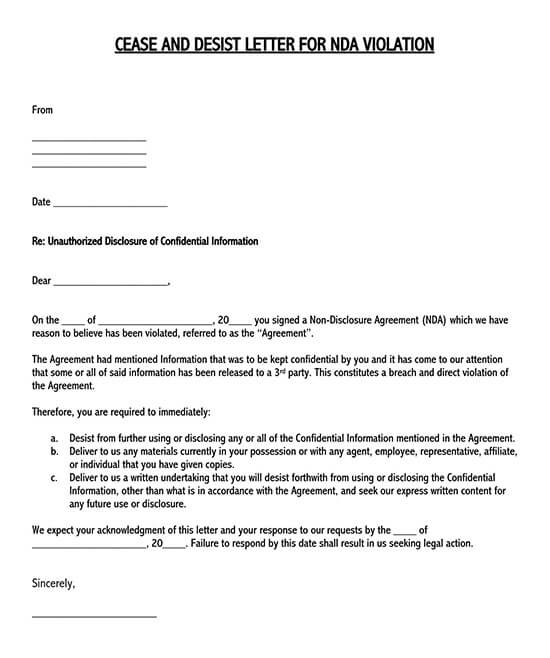 how to write a non disclosure agreement