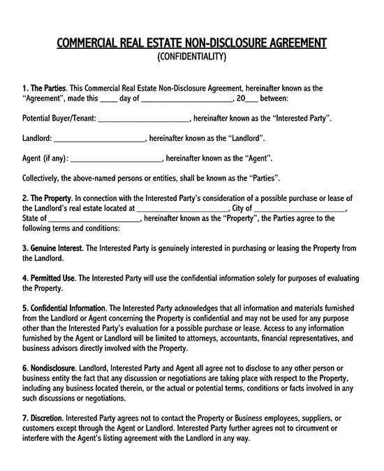 non disclosure agreement for employees