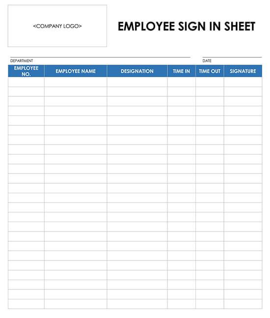 Employee Sign Up Sheet Template