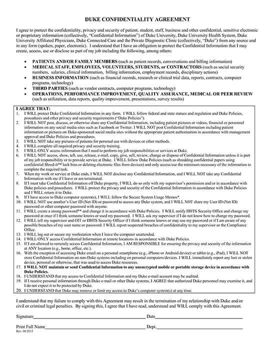 employee confidentiality agreement pdf