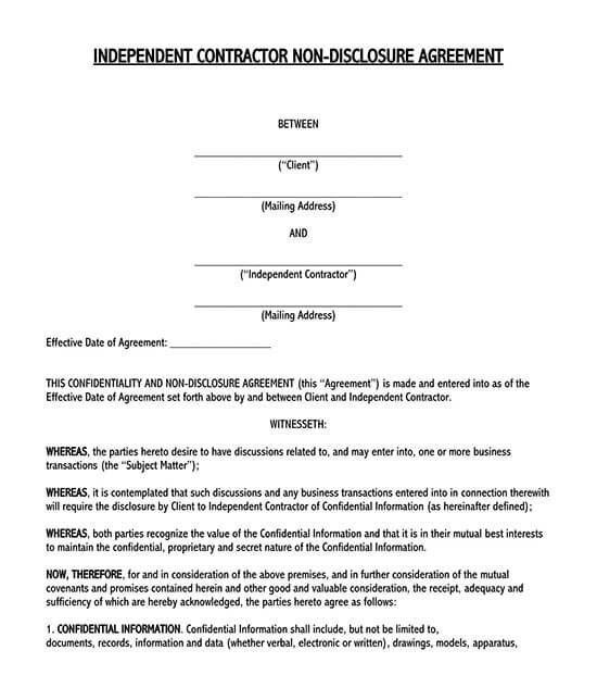 simple confidentiality agreement template word 01