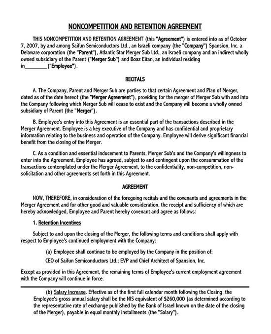 employee non compete agreement template 01