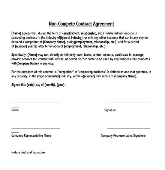 non compete agreement between business partners sample 02