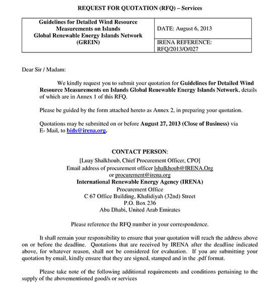 quotation letter sample pdf