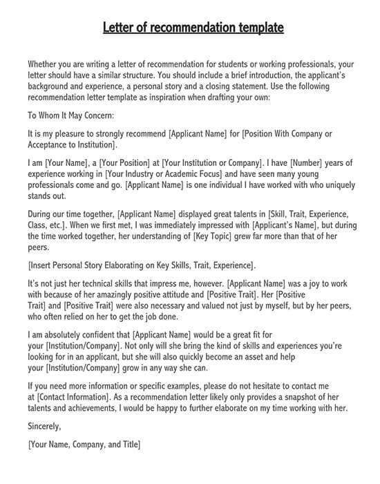 sample recommendation letter for employee from employer 01