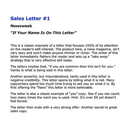 short sales letter sample