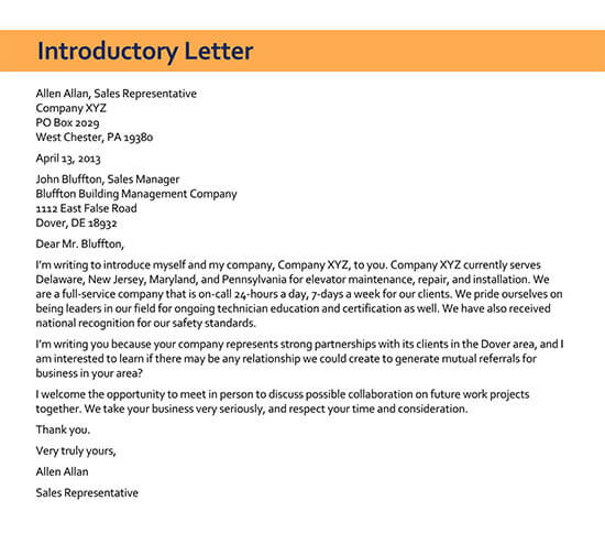 example of sales letter for product 01