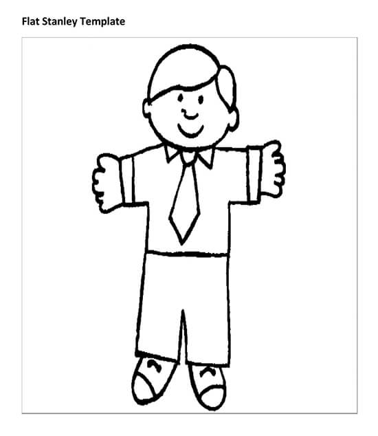 Sample Flat Stanley Template 19