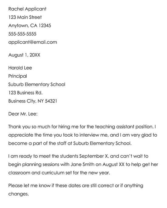 Sample Job Offer Thank You Letter 01
