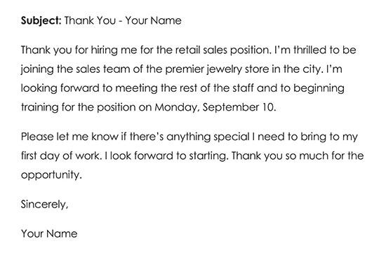 Sample Job Offer Thank You Letter 02