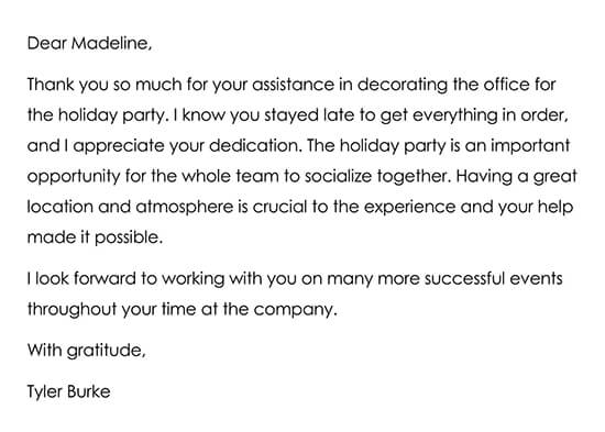 Thanking a Business Colleague Letter