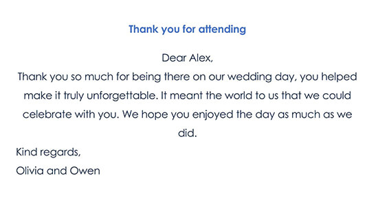 Wedding Thank You Card Wording 01