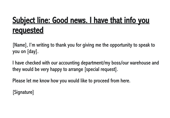 follow up email after providing service
