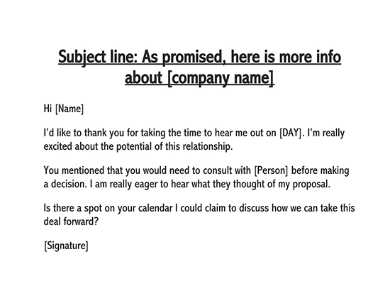 follow-up email template after no response