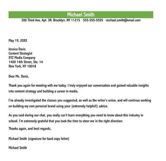 sample letter of appreciation for support