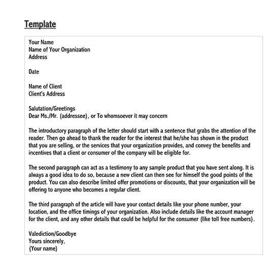sample sales letter doc
