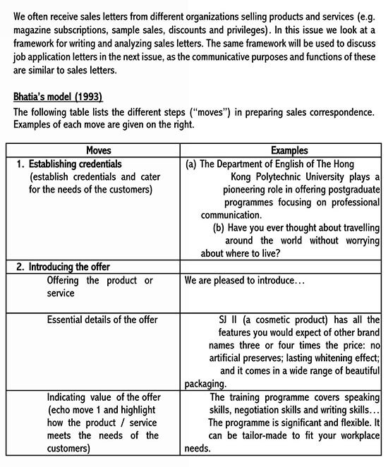 purpose of sales letter 01