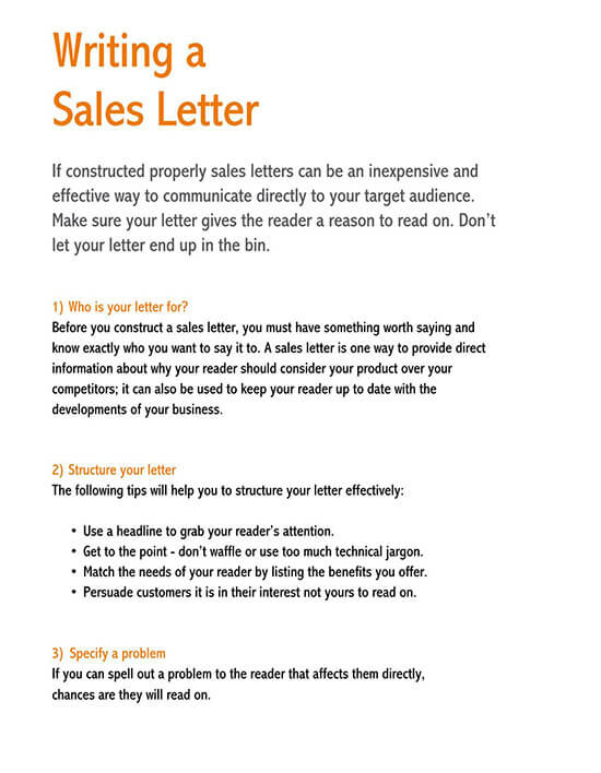 sales letter template promoting a service 02