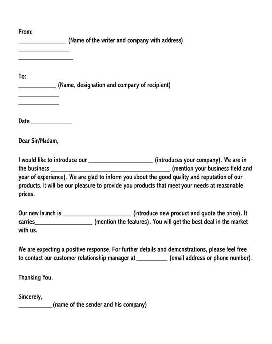 sample sales letter to customers