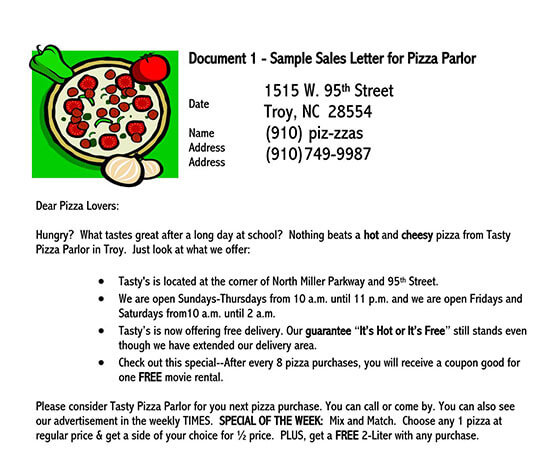 sales letter example pdf
