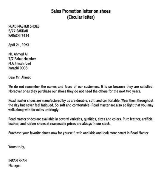persuasive sales letter format