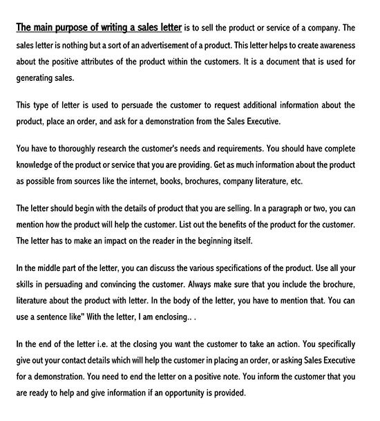 how to write a sales letter 01