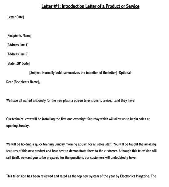sales target letter format word 01