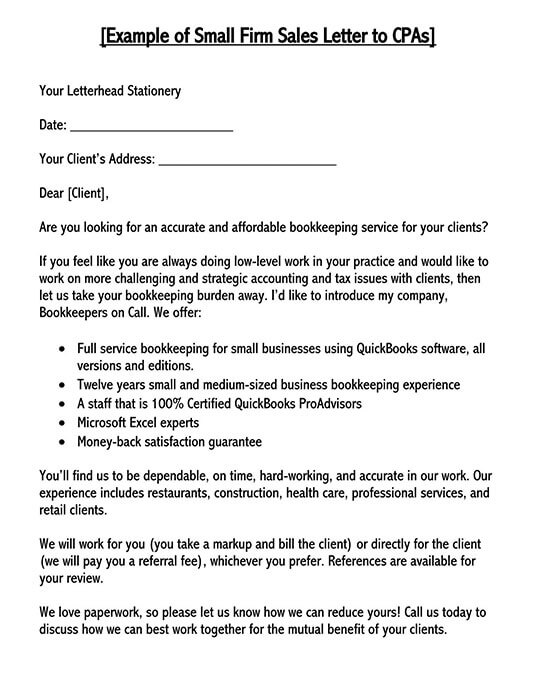 sample sales letter to customers 02