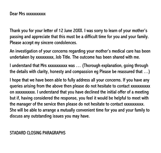 complaint and adjustment letter example 01
