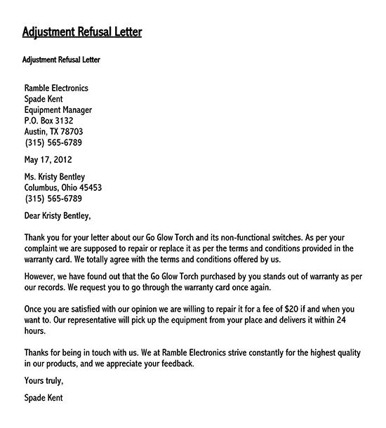 types of adjustment letter 01