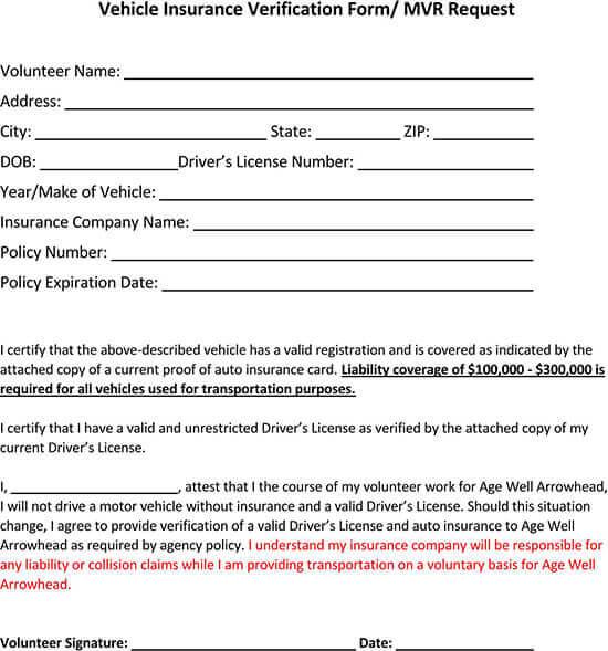Vehicle-Insurance-Verification-Form