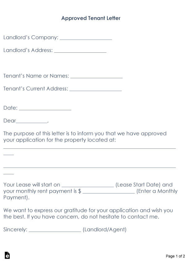 Approved tenant letter 13