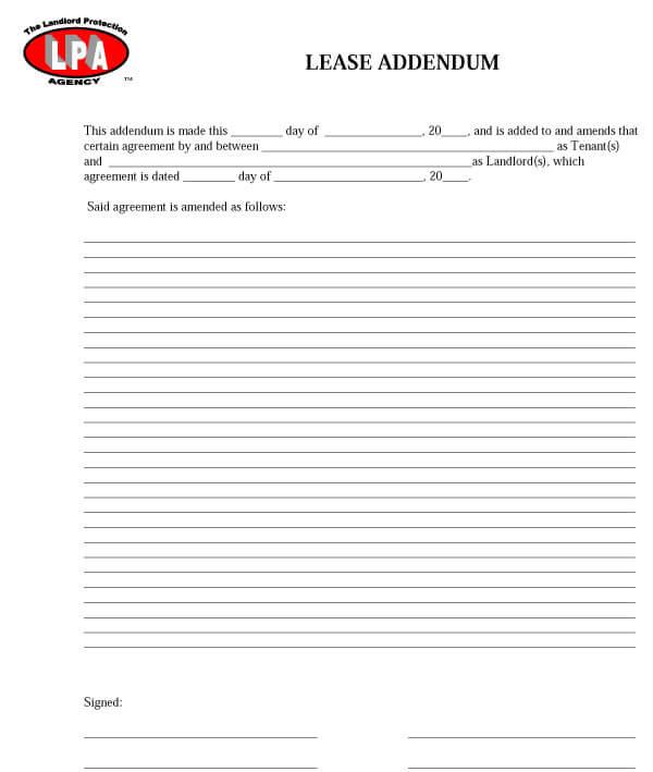 Amendment To Add Tenant Sample 08