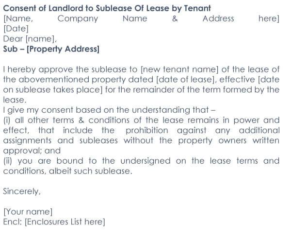 Approved Tenant Letter Sample 05